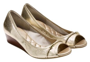 Cole Haan Tali gold Wedges