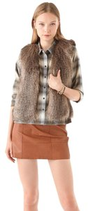 Club Monaco Faux Fur Crew Neck Vest
