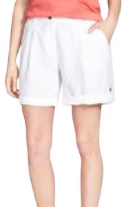Eileen Fisher Short Linen Mini/Short Shorts White