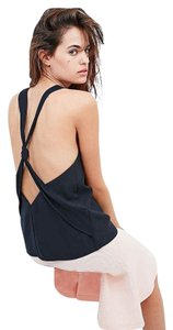 The Fifth Label Knotted Open Back Tank Removable Top Navy