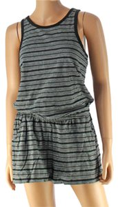 Banana Republic Romper Shorts Grey Black