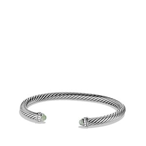 David Yurman Classic cable Prasiolite & Diamonds 5mm