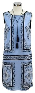 short dress light blue Handkerchief Sleeveless on Tradesy