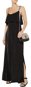 Black Caviar Maxi Dress by Joie Silk Strappy Scoop Neck