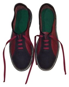 Ben Calcat Black and maroon red Flats