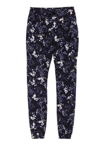 Talula Joggers Relaxed Pants Black, Floral