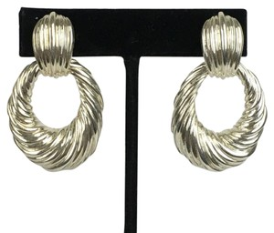 Tiffany & Co. Tiffany & Co T & Co Sterling Silver Xl Clip On Earrings Huggies Convertible Style