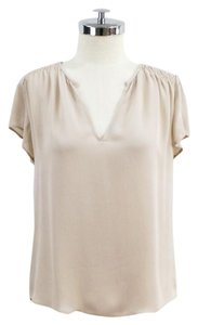 Joie Gathered Silk Shortsleeves Top Blush