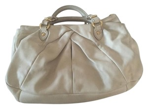 Miu Miu Lambskin Gold Hardware Satchel in Cream