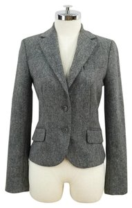 Zara Tweed 2 Button Short Grey Blazer