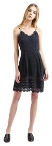 J.O.A. short dress Black Lace Fit And Flare on Tradesy