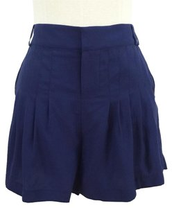 Parker Silk Pleated Dress Shorts Navy