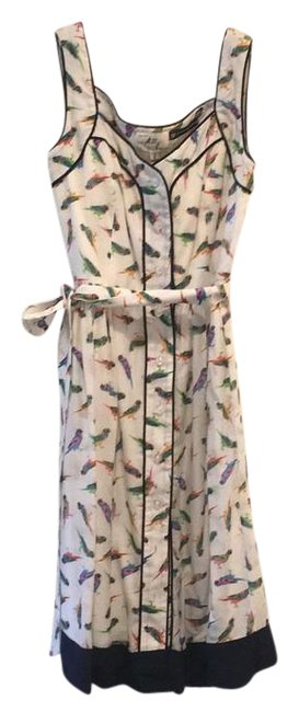 Item - White/Navy - Mid-length Short Casual Dress Size 0 (XS)