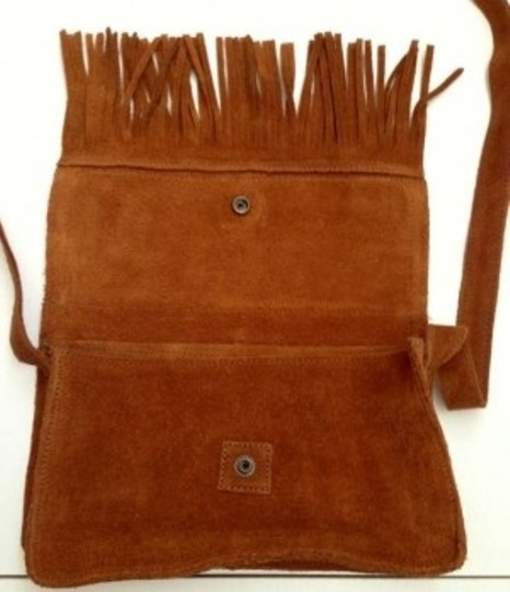 Minnetonka Suede Leather Cross Body Bag