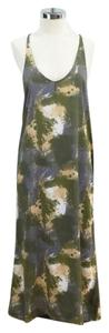 Young Fabulous & Broke short dress Olive green Open Back Blotchy Printed on Tradesy