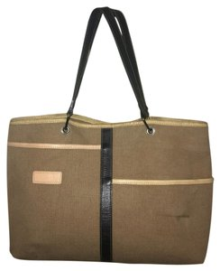 Longchamp Tote in Tan Black
