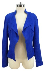 Zara Linen Blue Open Front Electric blue Blazer