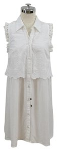 moon river short dress white Eyelet Layered Button Down Lace on Tradesy