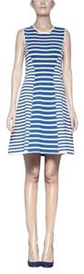 Pink Tartan Striped Fit Flare Dress