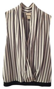 H&M Striped Draped Top