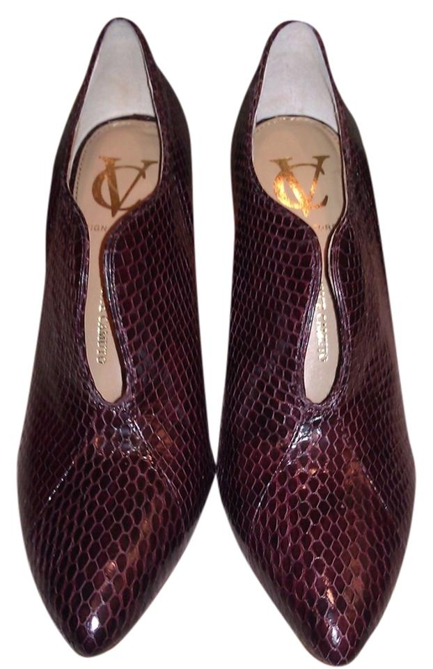 Vince Camuto New Leather Signature Carolena Leather New Bootie Pumps 04fd61