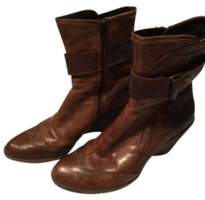 Khrio Wing Tip Genuine Leather Brown Boots
