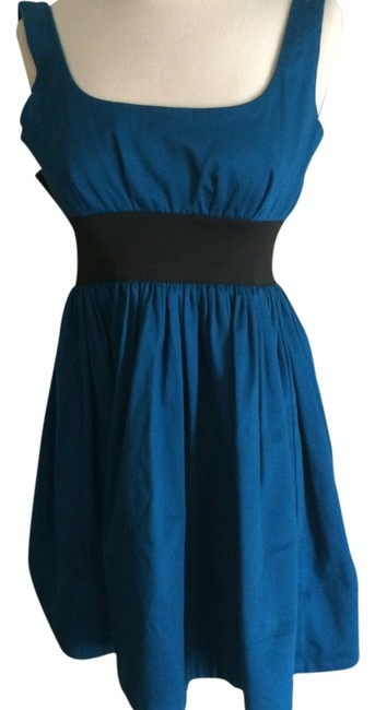 Necessary Objects short dress blue and black on Tradesy