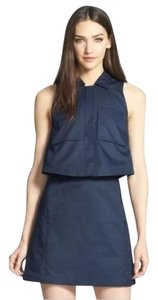 Theory short dress Blue Uniform Shift Pop on Tradesy