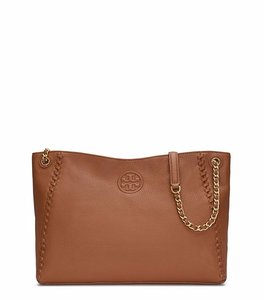 Tory Burch Marion Leather New With Tags Tote in Bark