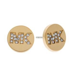 Michael Kors Michael Kors Fulton Logo Gold Steel Glitz Stud Earrings MKJ4665710