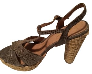 Envy Platform Coated Jute Accents Taupe Sandals