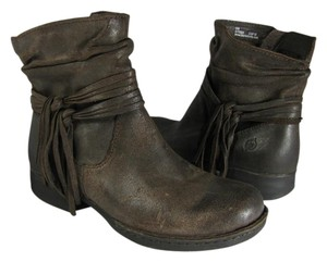Brn Distressed Ankle brown Boots