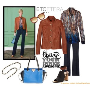 Etcetera Scotch caramel Leather Jacket