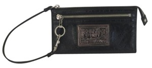 Coach POPPY LARGE WRISTLET WALLET BLACK