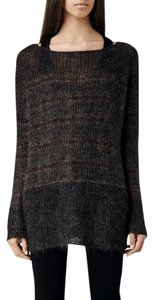 AllSaints Boatneck Mohair Fuzzy Sweater