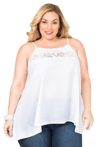 Ashley Stewart Top WHITE