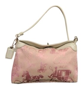 Coach Horse And Carriage Wristlet in Pink
