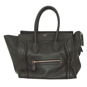 Cline Celine Lugagge Tote Satchel in Black