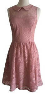 merona short dress rose petal Lace on Tradesy