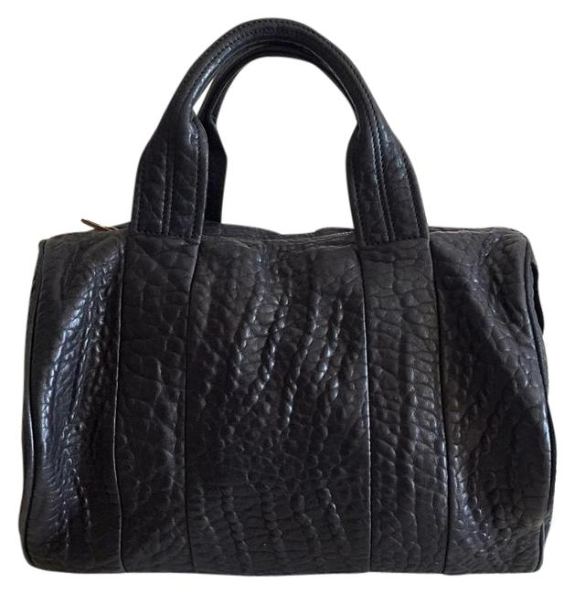 Item - Rocco Gold Hardware Black Pebble Lambskin Leather Tote