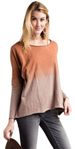 Easel Tie Dye Top Rust Taupe