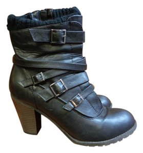 Call It Spring Heeled Black Boots