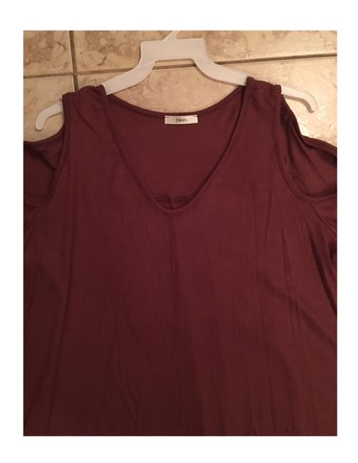 Oatmeal/Red Bean Jodifl Women's Long Sleeve Thermal Cold Shoulder S M L Blouse Size 12 (L) Oatmeal/Red Bean Jodifl Women's Long Sleeve Thermal Cold Shoulder S M L Blouse Size 12 (L) Image 4
