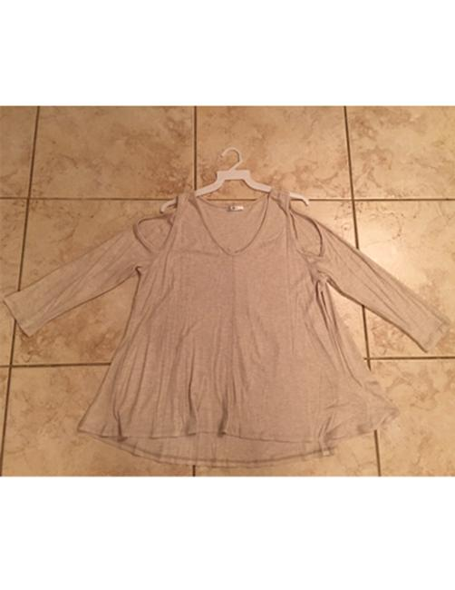 Oatmeal/Red Bean Jodifl Women's Long Sleeve Thermal Cold Shoulder S M L Blouse Size 12 (L) Oatmeal/Red Bean Jodifl Women's Long Sleeve Thermal Cold Shoulder S M L Blouse Size 12 (L) Image 8