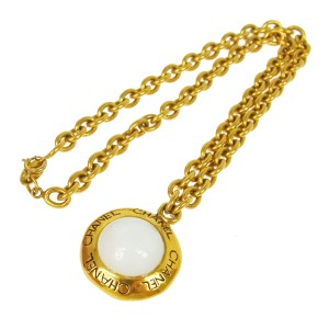 Chanel Chanel Vintage Gold Chain Pearl Medallion Necklace in Box
