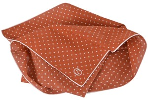 Gucci Gucci 314255 Burnt Orange White Voile Cotton GG Square Scarf