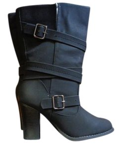 Apt. 9 Midcalf Strappy Zipper Apt Black Boots