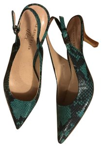 Anne Klein Turquoise and black Pumps
