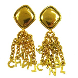 Chanel Chanel Vintage Gold Chain Charms Earrings