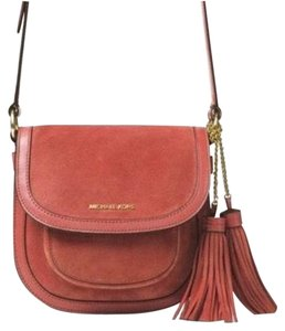 MICHAEL Michael Kors Dunn Suede Saddle Cross Body Bag